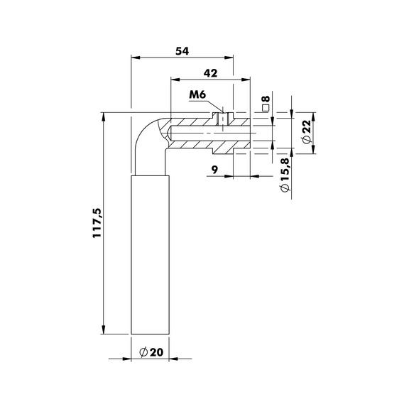Otvor pro úchop ZD 7 - KOV-ZD7-DK-(NI)-MATT