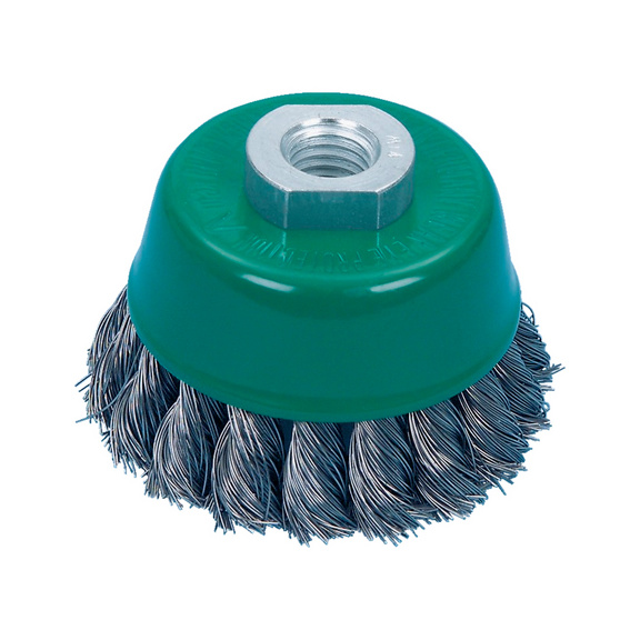 Braided cup brush stainless steel wire | WÜRTH