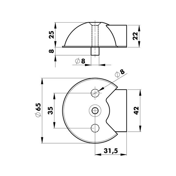 Türstopper  Typ G - TRSTOPR-G-A2-MATT