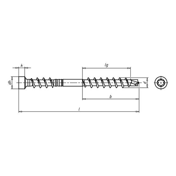 ASSY<SUP>®</SUP>plus A4 vis pour la construction de terrasses - 2