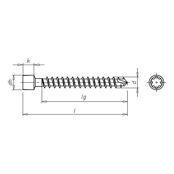 ASSY<SUP>®</SUP>plus FT, tête cylindrique Vis pour construction bois - VIS-TC-BOIS-AW40-(A2L)-8X430/405