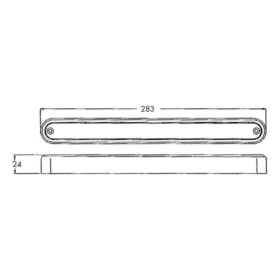 plafonnier led rectangulaire 24v pour v hicule pour professionnels w rth. Black Bedroom Furniture Sets. Home Design Ideas