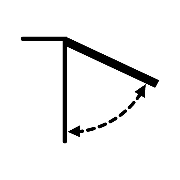 Compasso universal 9 - COMPASSO PARA PORTA SUPERIOR 9