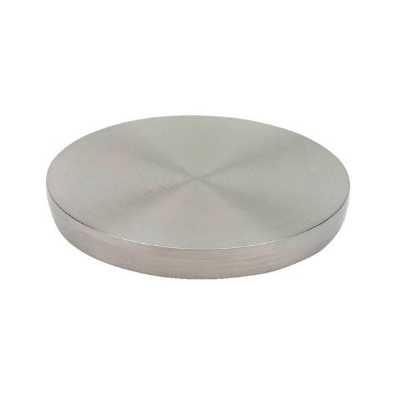 Gamba per tavolo inox per superfici in vetro