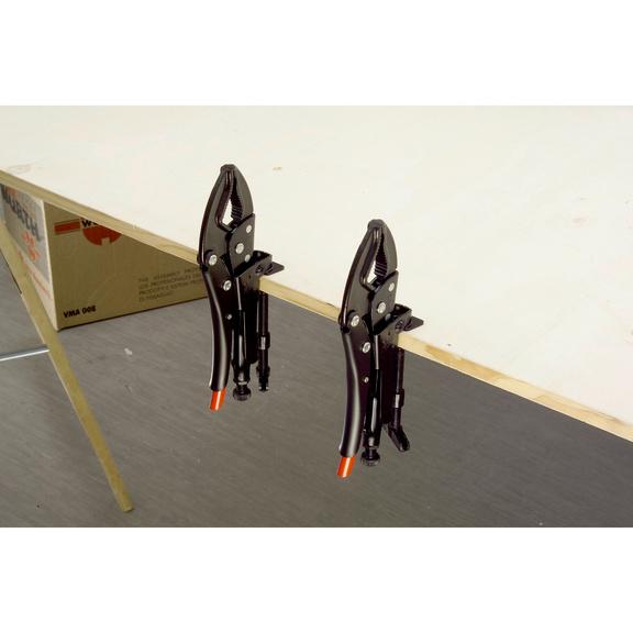 Torno móvel Conjunto de alicates Grip com grampo de mesa - CONJUNTO ALICATES GRIP TORNO MOVEL
