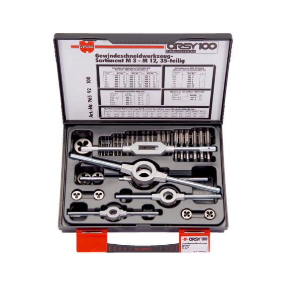 螺纹切削工具组套 高速钢 - 丝锥板牙组套-(M3-M12)-35件