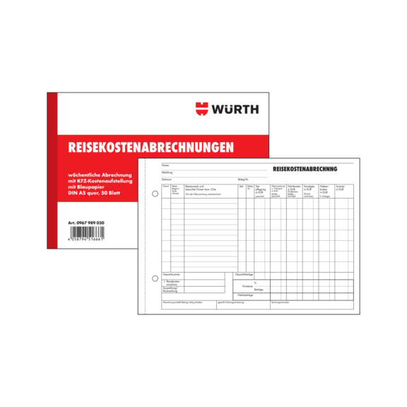 Form travel expenses | WÜRTH