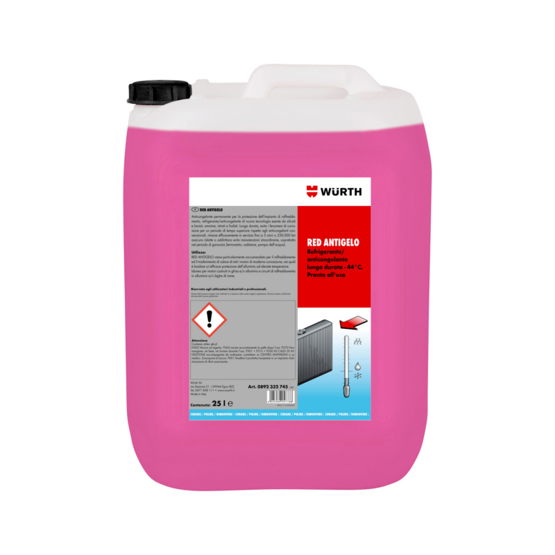 Antigelo  RED LONG LIFE - PROT. ANTIGELO  RED  PRONTO USO  25L