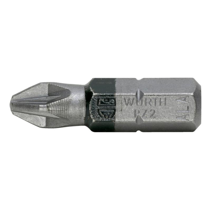 Pozidriv bit - BIT-PZ2-BLACK-1/4IN-L25MM
