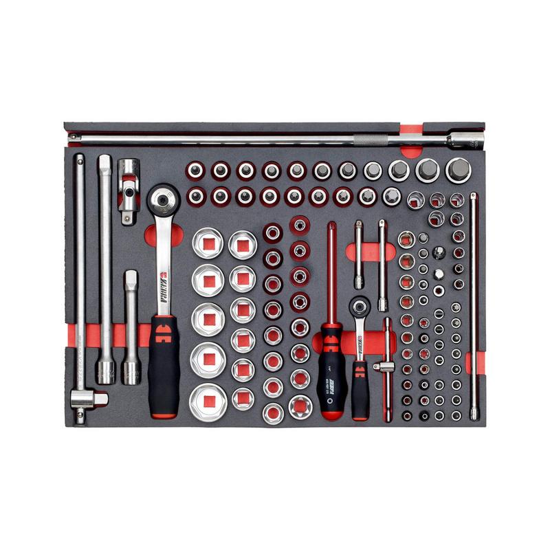 Zestaw narzędzi 1/4 cala + 3/8 cala - ZEST.KL.NASADOWYCH 1/4+1/2 109CZESCI