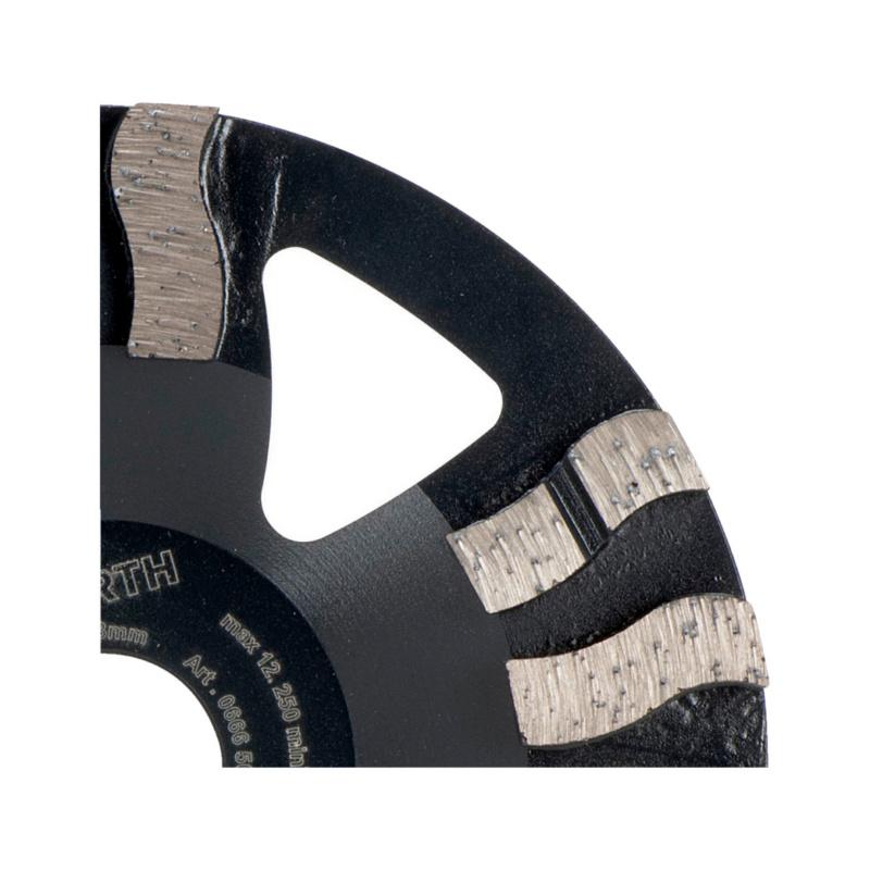 Pitkäikäinen ja nopea timanttikuppilaikka kovalle materiaalille - TIMANTTIHIOMALAIKKA 125MM ZEBRA HARMAA