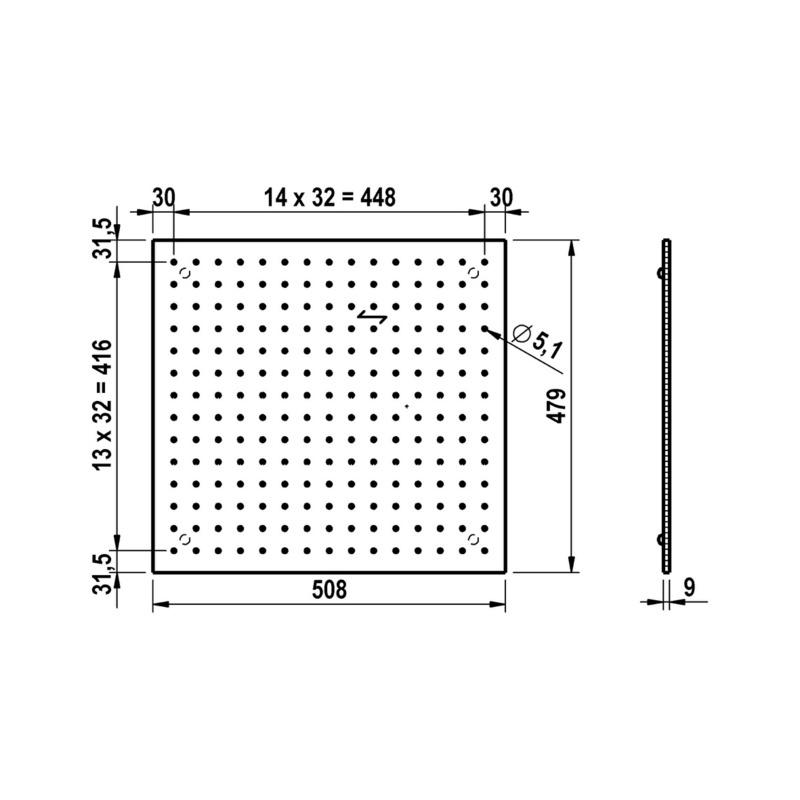 Lochplatte Holz Für Schubkästen Zb Besteckeinsa Birke 1200
