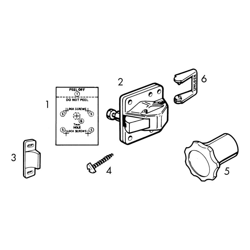 Serratura magnetica invisibile per mobili - 2