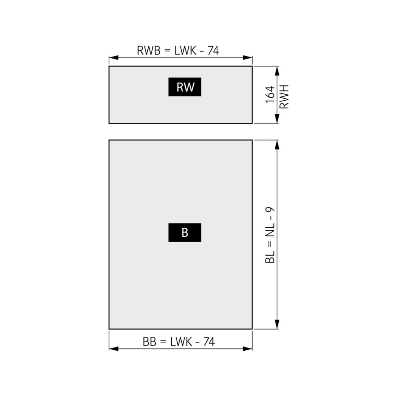 DWD XP front ladeset Soft-close - 2