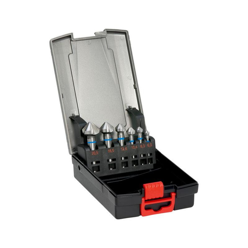 Kegelsenker Sortiment Blauring HSS 90° DIN 335 C - SENKR-KGL-SORT-BLAU-HSS-90°-(D6,3-20,5)