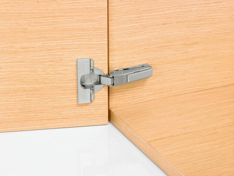 Concealed hinge, Nexis click-on 110 - HNGE-NEXCLON-SCRON-AUTM-CRN-110DGR