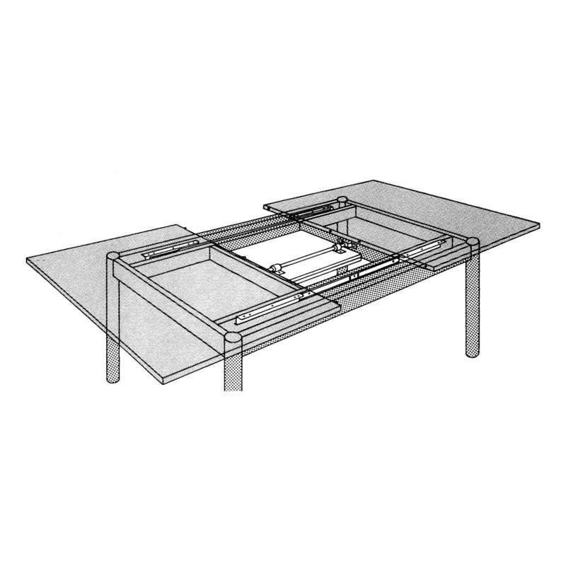 Guida per tavolo allungabile con apertura centrale (0684080206)| Würth