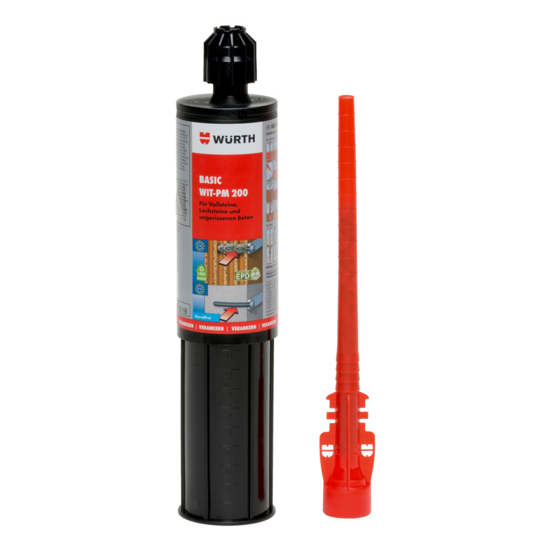 Injektionsmörtel Basic WIT-PM 200, 150 ml  Basis-Mörtel für Mauerwerk und ungerissenen Beton.