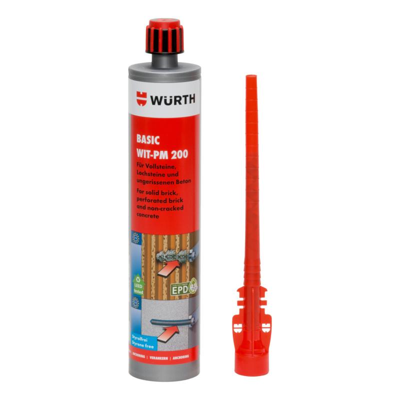 Injektionsmörtel Basic WIT-PM 200, 330 ml  Basis-Mörtel für Mauerwerk und ungerissenen Beton.