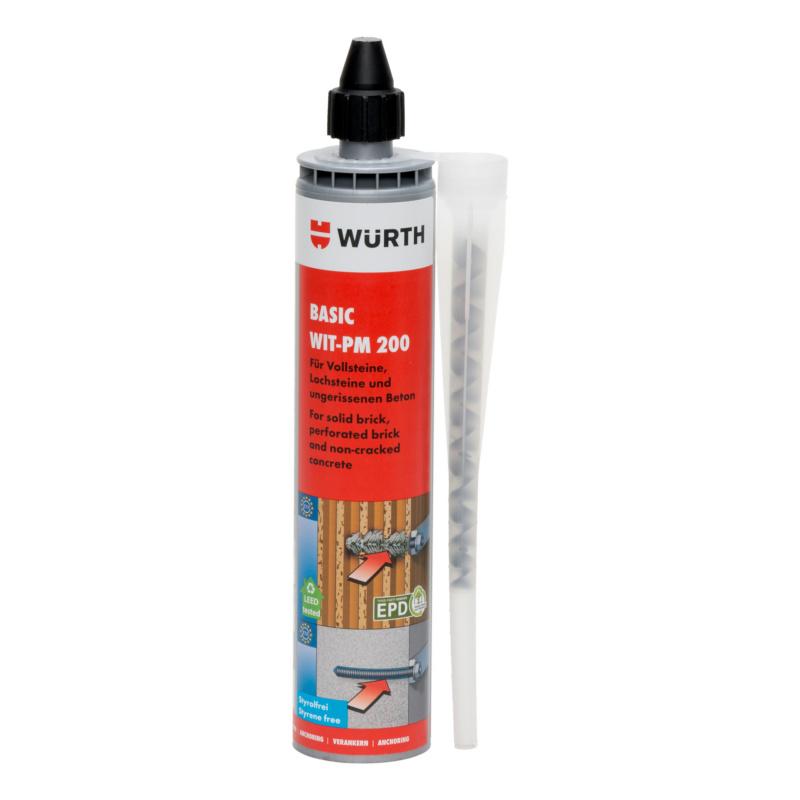 Injektionsmörtel Basic WIT-PM 200, 300 ml  Basis-Mörtel für Mauerwerk und ungerissenen Beton.
