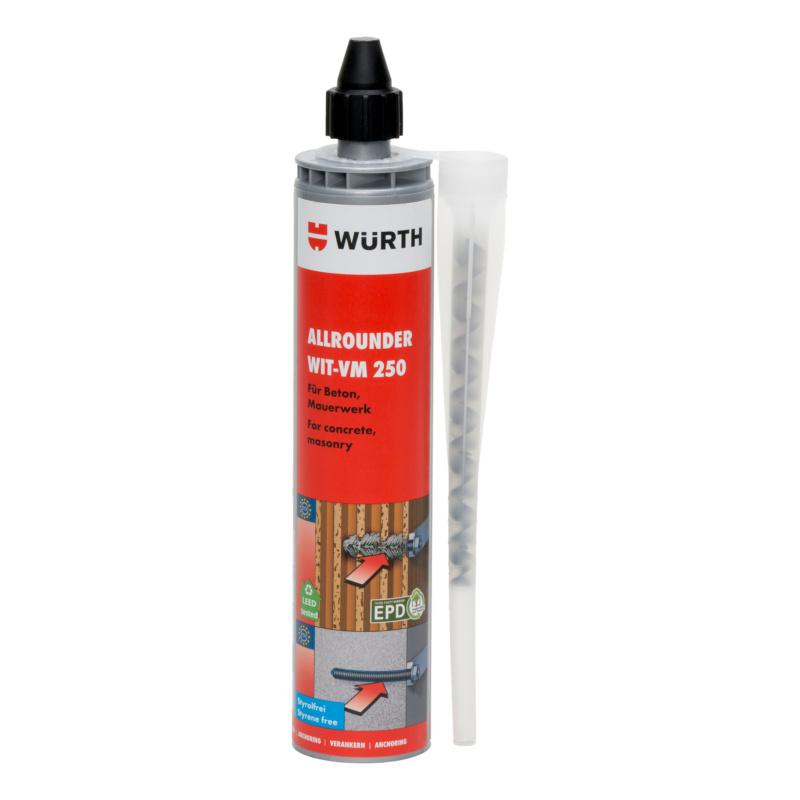 Injektionsmörtel Allrounder WIT-VM 250, 300 ml  Der Allrounder für Beton, Mauerwerk und nachträglich eingemörtelten Bewehrungsanschluss (REBAR).