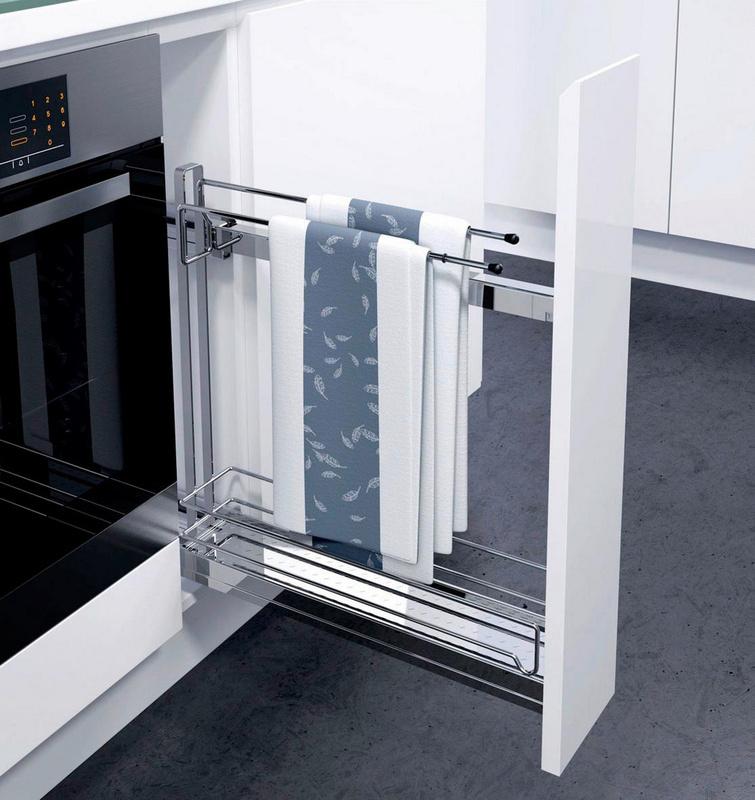 Gaveta extensível 90 graus 150 mm largura toalhei. - EXTENSAO TOTAL 90. C/SUPORTE P/TOALHAS
