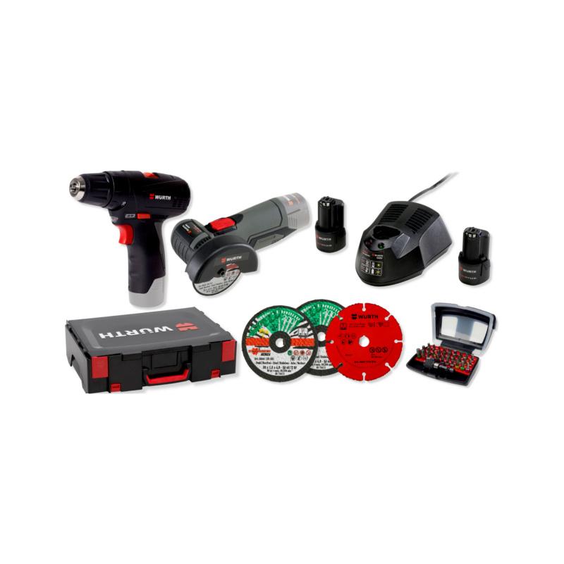 Set utensili a batteria - KIT COMBO BS12-A-TG12-A-BITBOX-31PCS