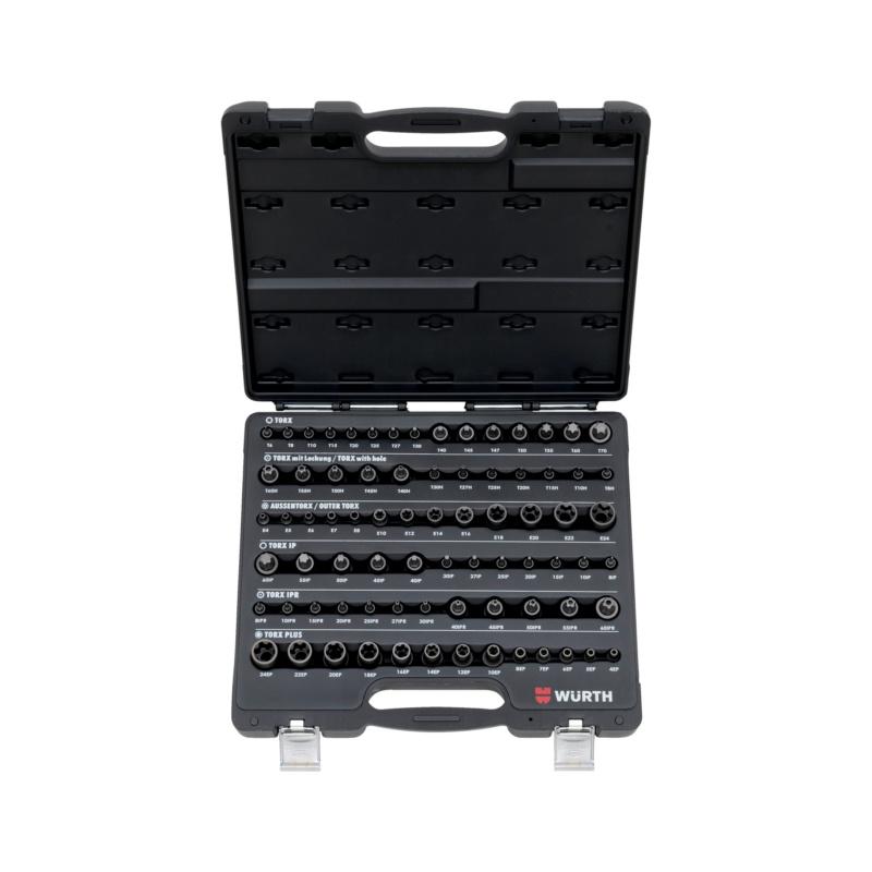 Assortiment TX dopsleutels 1/4-inch, 3/8-inch en 1/2-inch - 0