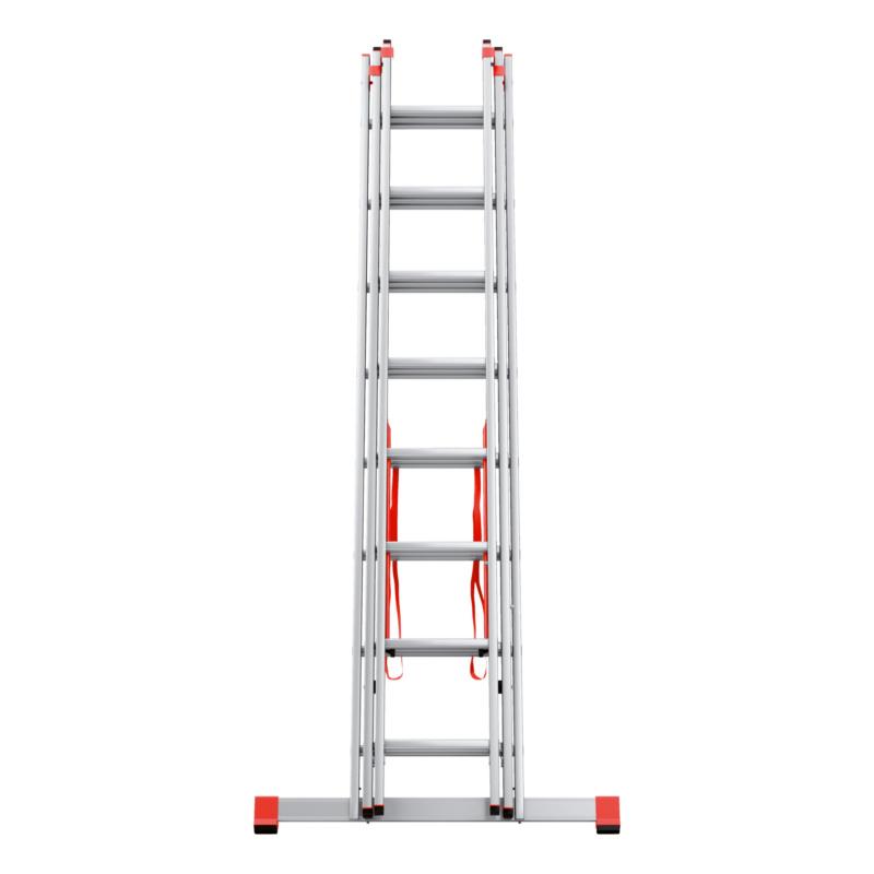 Alu-Allzweckleiter Flexibel einsetzbar als Anlege-, Schiebe- und Stehleiter.