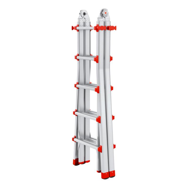 Alu-Profi-Teleskopleiter 4x5 Als Stehleiter auch auf Treppen einsetzbar.