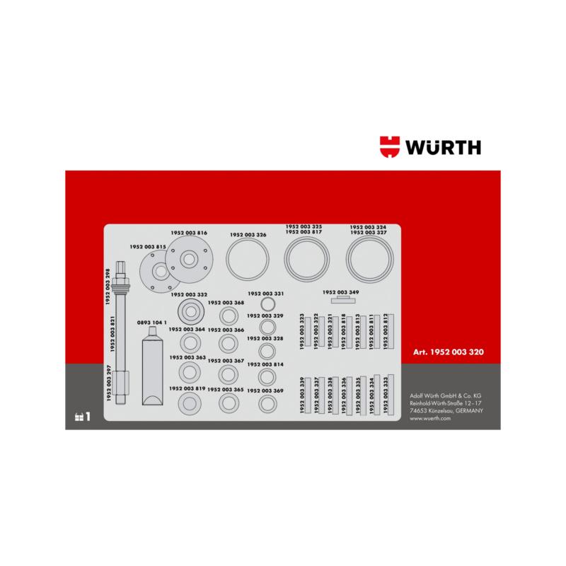 Kit d'extraction de roulement de roue - 0