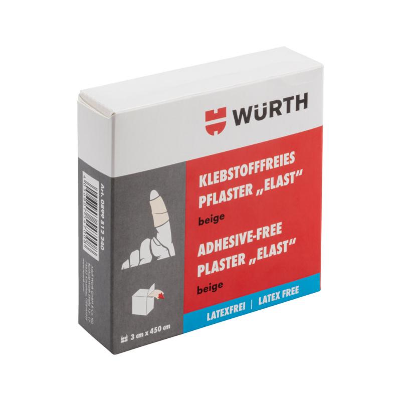 Klebstofffreies Pflaster, Elast latexfrei, 3cm beige  Bleibt nicht an der Haut, an Haaren oder Verletzungen haften