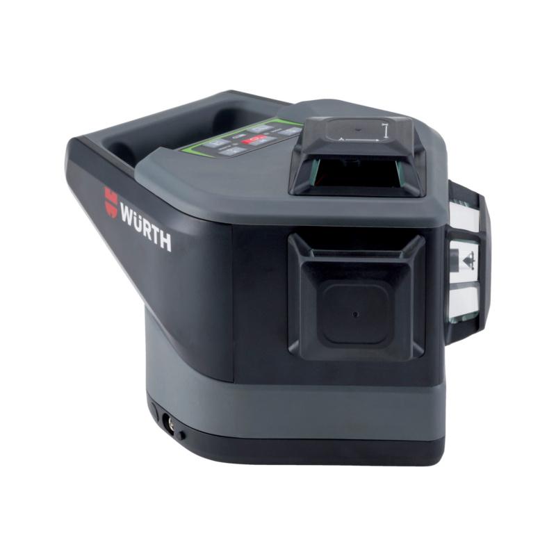 Multi-Linienlaser MLLG 18 Hochwertiger, elektronischer, selbstnivellierender Linienlaser mit sehr gut sichtbaren, grünen Laserlinien. Inklusive einer Lasersichtbrille und einem Akku.