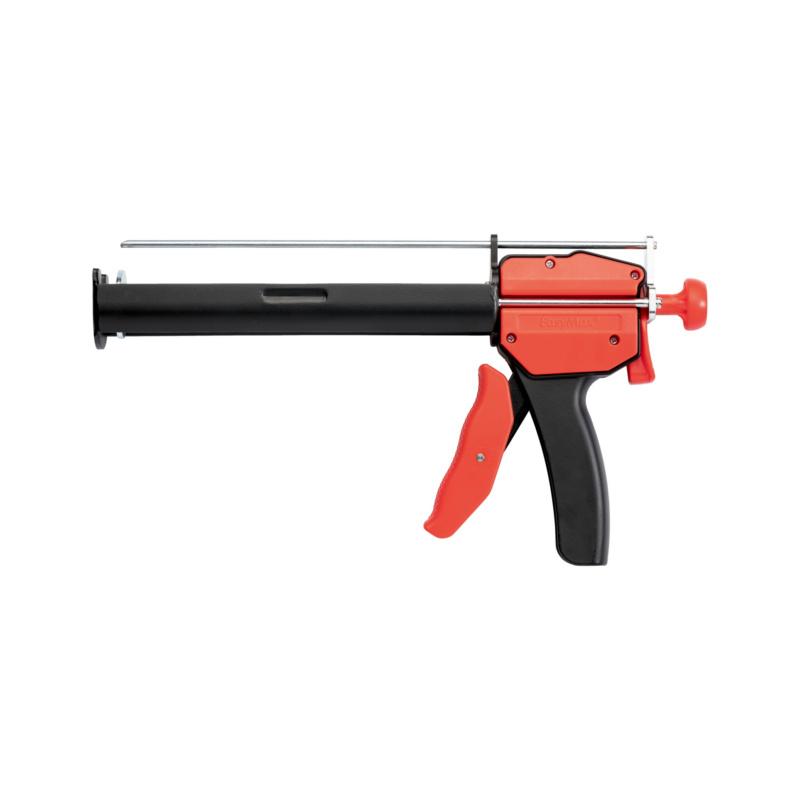 Auspresspistole EasyMax  Professionelle Kartuschen-Halterung aus Stahlblech. Optimale Fixierung der WIT-Kartuschen.