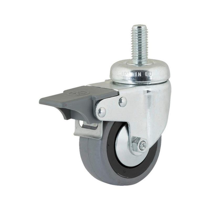 roue pivotante avec la vis sans t te rotative et frein de blocage 0683567537 w rth. Black Bedroom Furniture Sets. Home Design Ideas