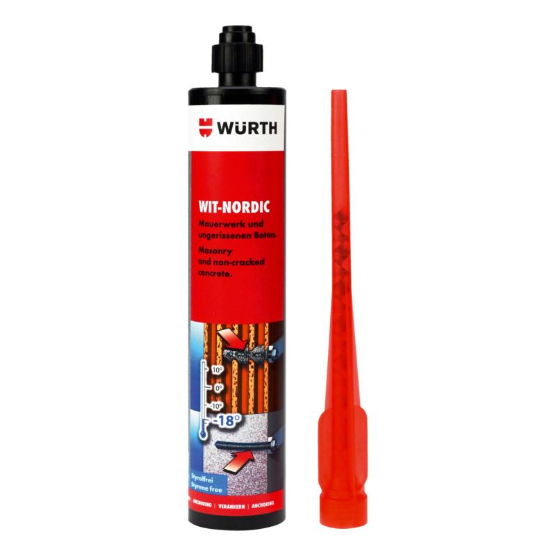 Injektionsmörtel WIT-NORDIC  Der Winter-Mörtel (Einbau bis -20°C möglich), für Beton und Mauerwerk.