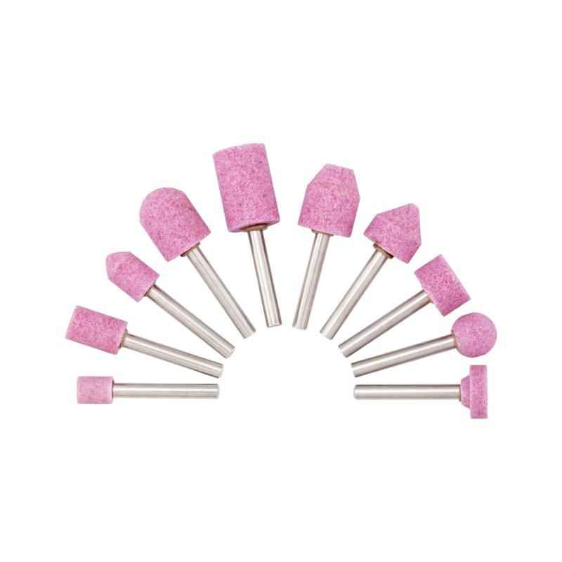 特种熔融氧化铝打磨头组套,粉色 - 刚玉磨头组套-10PCS