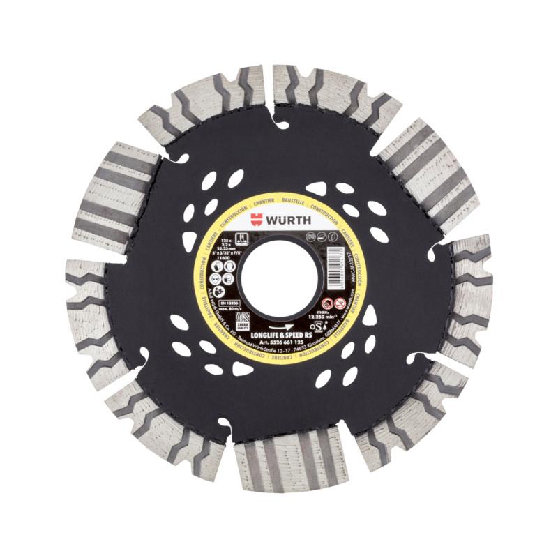 Diamanttrennscheibe Baustelle Longlife & Speed RS Durchmesser 125 mm.