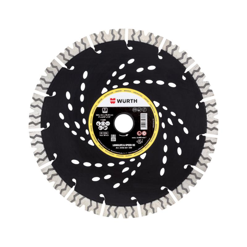 Diamanttrennscheibe Baustelle Longlife & Speed RS  Durchmesser 230 mm.