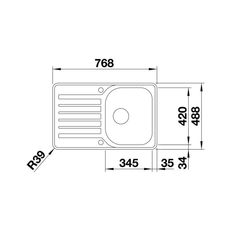 sp le blanco lantos 45 s if compact 0682601220 online kaufen w rth. Black Bedroom Furniture Sets. Home Design Ideas