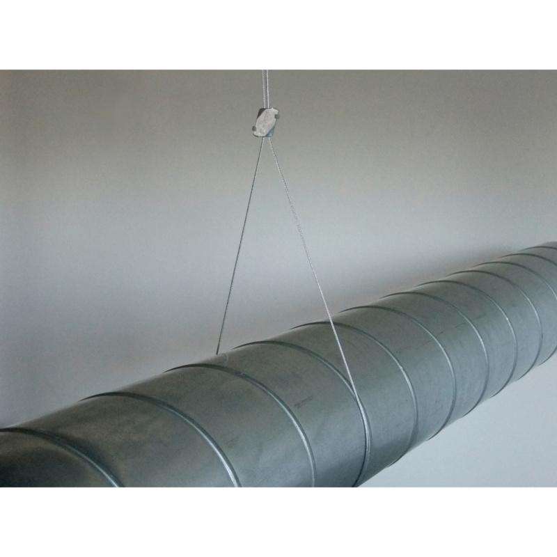 Pontet de câble métallique - ATTACHE SW1 W-FIX Ø1.5 A 2.5 MM