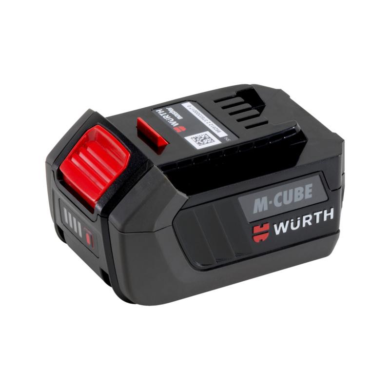 Akku Li-Ion 18 V Basic M-Cube®  Kompakter, kraftvoller und ausdauernder 18 Volt Li-Ion Akku für den professionellen und universellen Einsatz mit den neuen Würth Akku-Geräten.