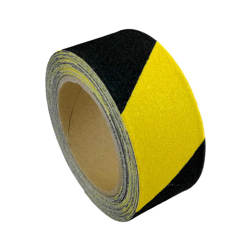 Warnmarkierungsklebeband Antirutsch aluminium-kaschiert  Formbares Band mit Rutschhemmung R13 gemäß DIN 51130, 25 mm