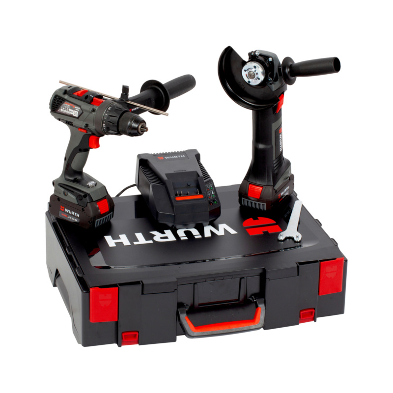 Kit de machines sur batterie  BS 18-A EC POWER/EWS 18-A 125 mm - VIS. BS 18-A POWER + MEUL. EWS 18-A