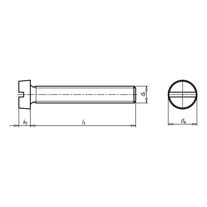 Tête cylindrique à fente - VIS-DIN84-4.8-(A2K)-M8X25