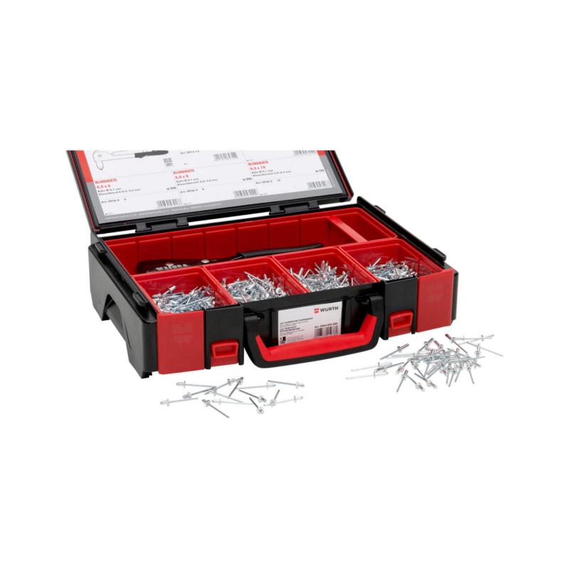 ORSY® pias® standaard blindklinknagels, platbolkop, assortiment - ASS-BLDKLINKNAGELS-701DLG-SYSKOFF