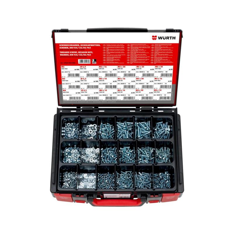 DIN 963/DIN 84/DIN 934/DIN 125 acc 4.8 zinc Sysko - ASS-VITI/DADI-DIN84/125/934/963-(A2K)