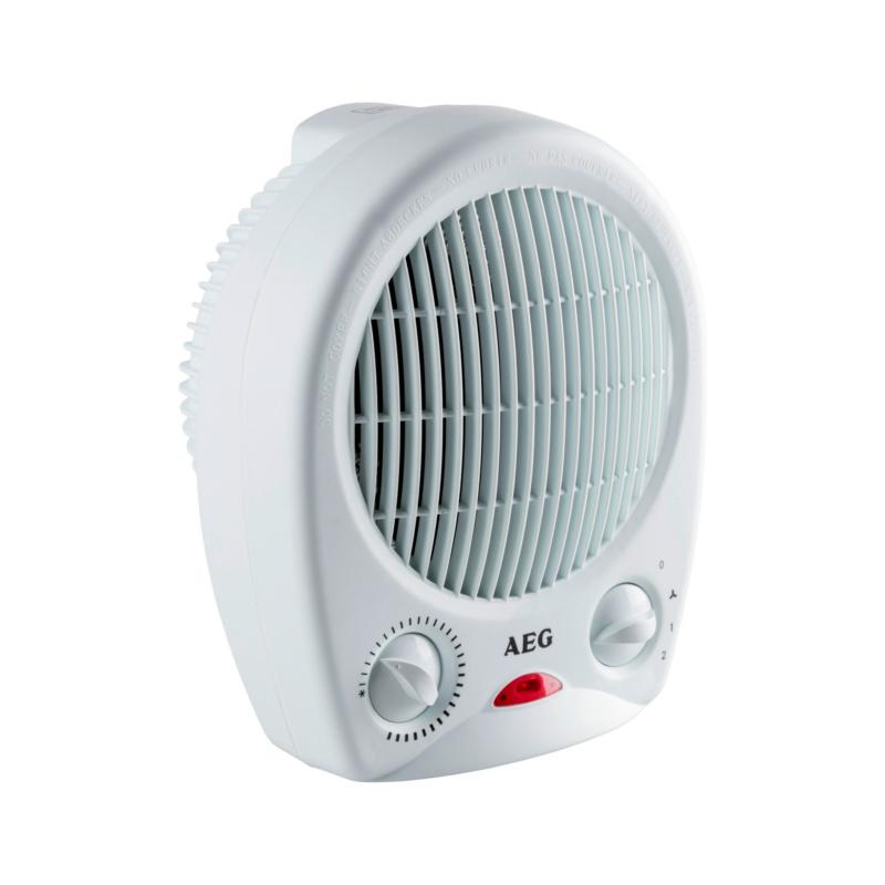 Heizlüfter  Kompakter Heizlüfter mit stufenlos einstellbarem Thermostatregler.