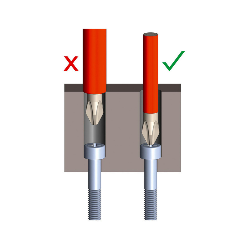 VDE-skruetrækker  PZ forsænket hoved, ultraslank - 0