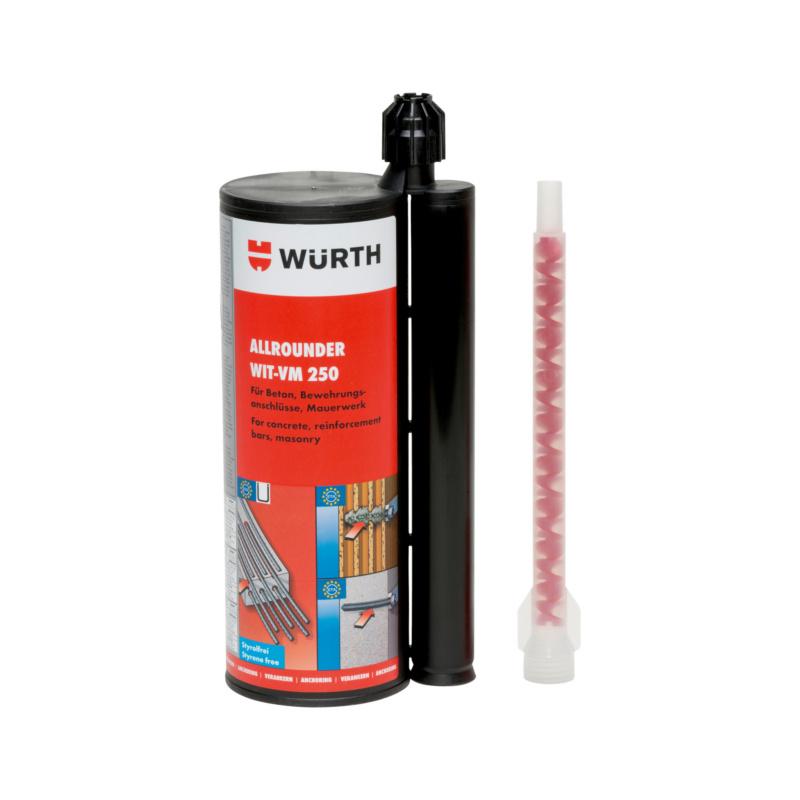Injektionsmörtel Allrounder WIT-VM 250, 825 ml Der Allrounder für Beton, Mauerwerk und nachträglich eingemörtelten Bewehrungsanschluss (REBAR).